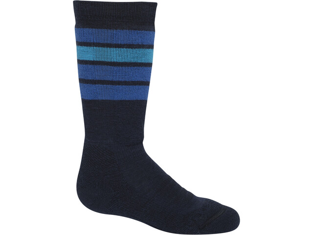 Icebreaker Ski Medium OTC Stripe Socken Kinder midnight navy